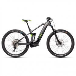 Cube Stereo 140 HPC SL 6 2021 Electric Mountain Bike - Silver Green