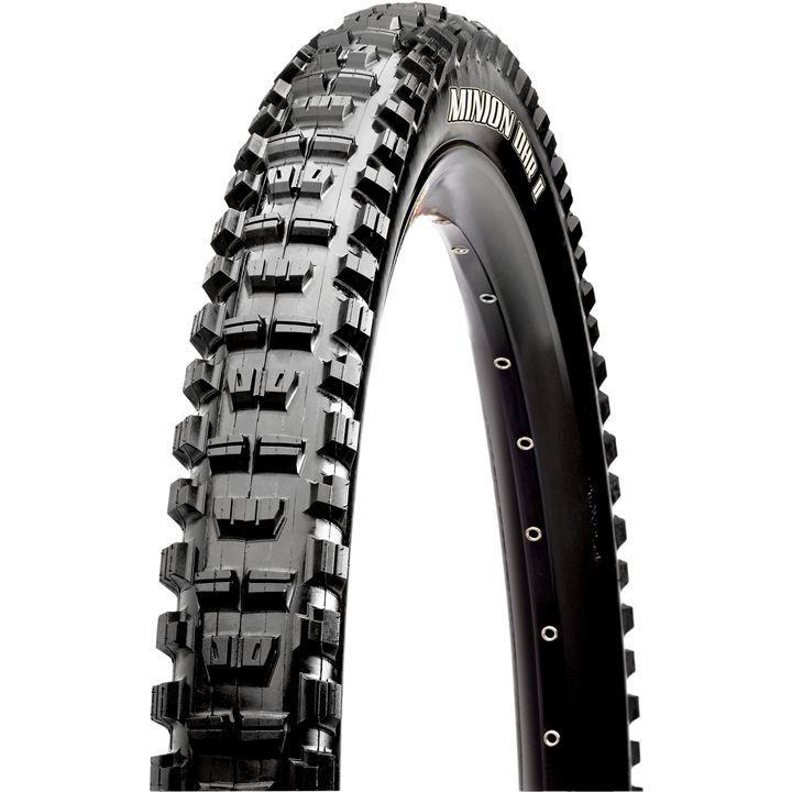 """Maxxis Minion DHR II 26"""" Dual Compound EXO Protection Folding Tubeless Ready Mountain Bike Tyre - Black"""
