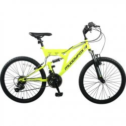 Muddyfox Recoil 24 Inch Kids Mountain Bike - Yellow/Black