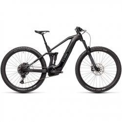 Cube Stereo 140 HPC Race 625WH 2021 Electric Mountain Bike - Black Grey