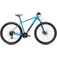 £499.00 – Cube Aim Hardtail Mountain Bike – 2021, Blue/orange