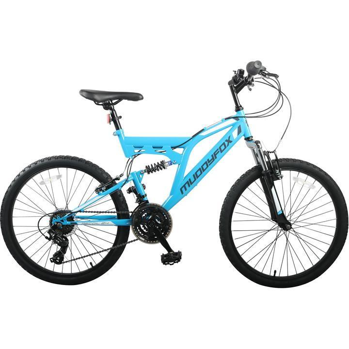 Muddyfox Recoil 24 Inch Kids Mountain Bike - Sky/Black