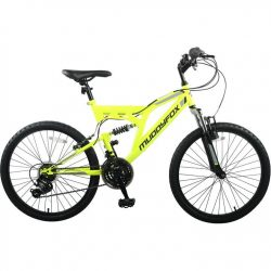 Muddyfox Recoil 24 Inch Mountain Bike - Yellow/Black