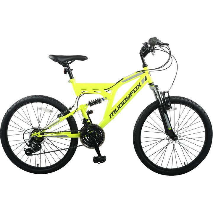 Muddyfox Recoil 24 Inch Mountain Bike - Yellow/Black
