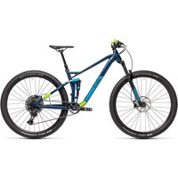 Cube Stereo 120 Pro 29 Suspension Bike 2021 - Blueberry - Green
