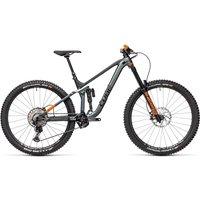 Cube Stereo 170 TM 29 Suspension Bike 2021 - FlashGrey - Orange - XL