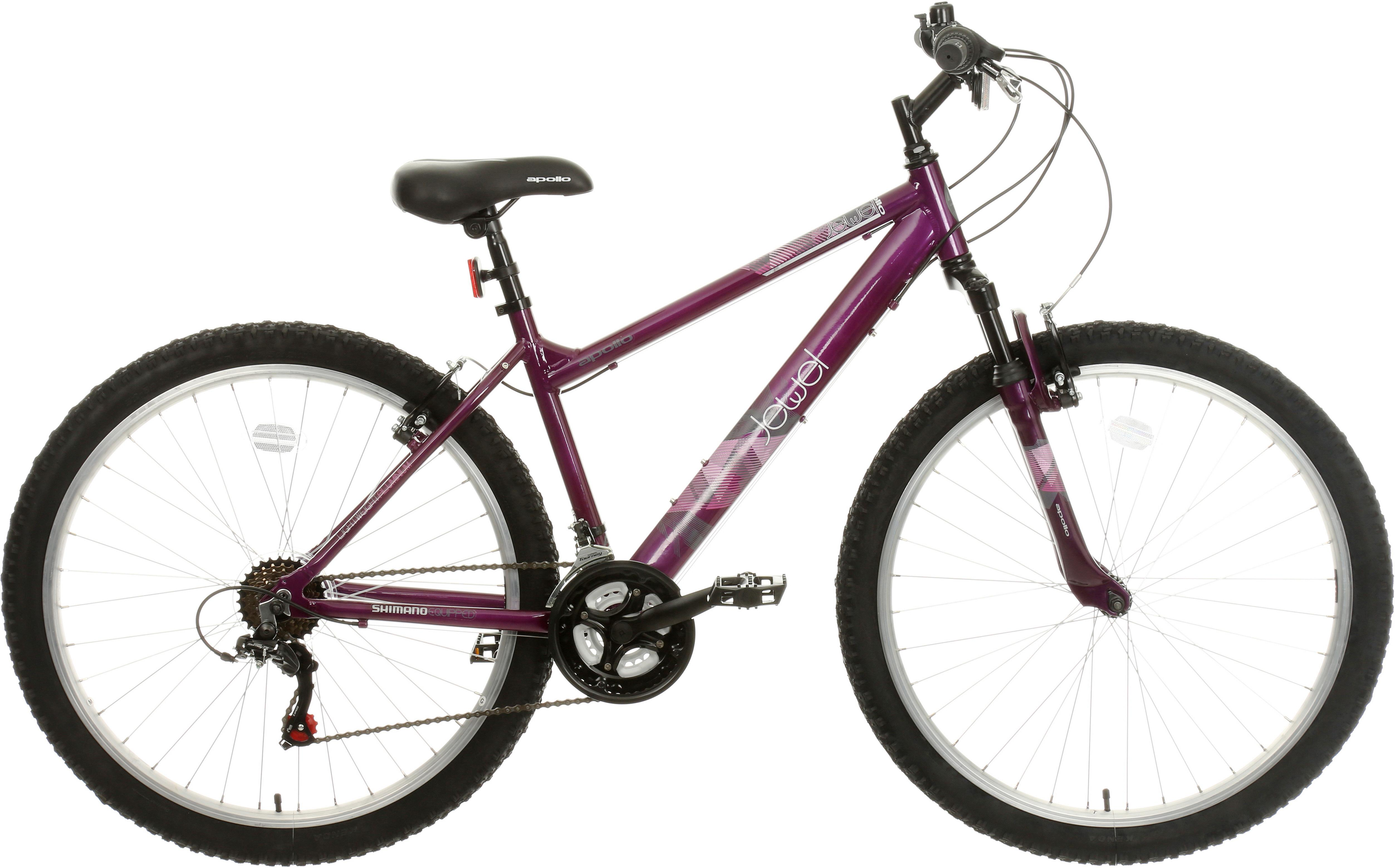 Apollo Jewel Womens Mountain Bike - Purple - 17 Inch