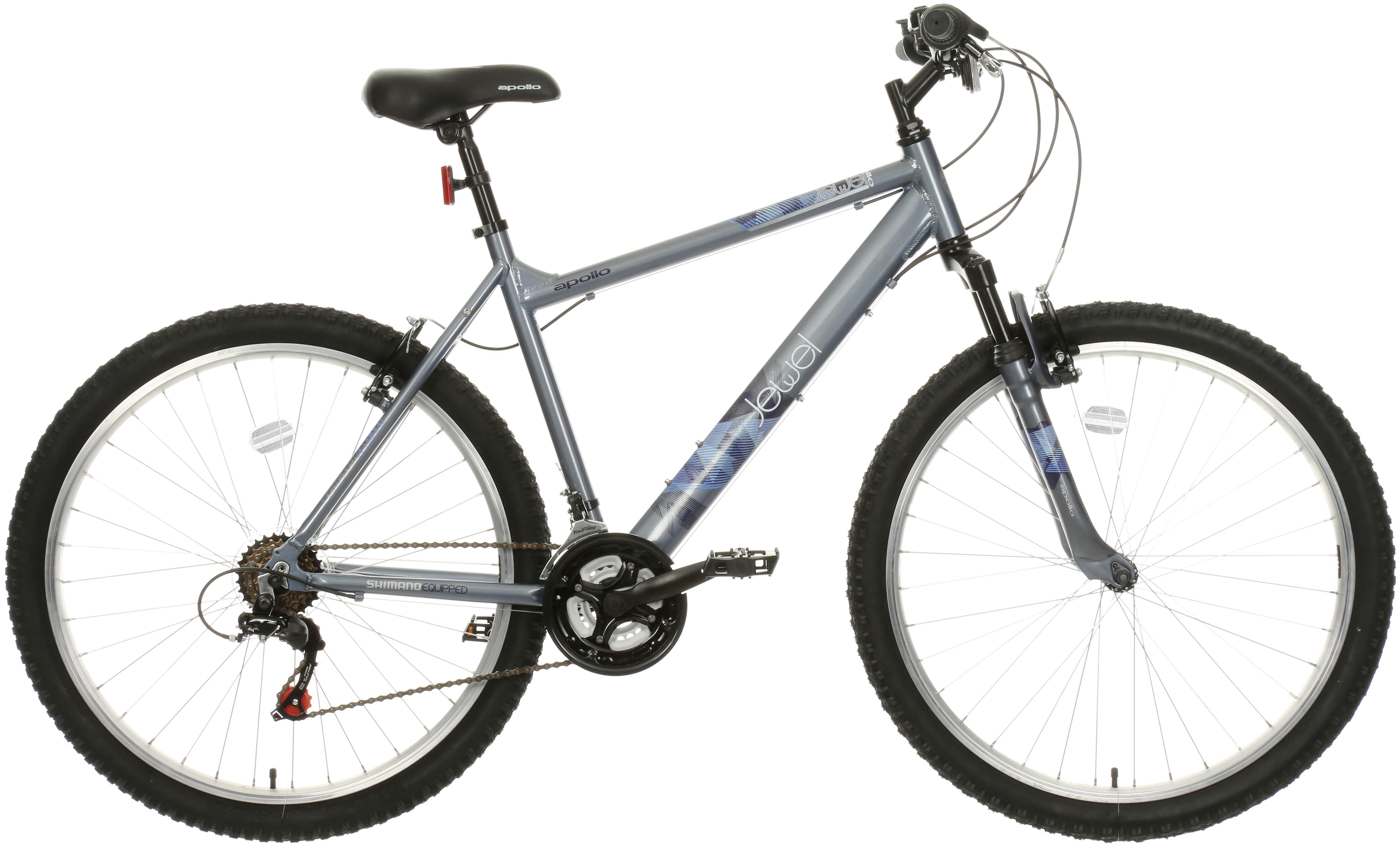 Apollo Jewel Womens Mountain Bike - Silver/Blue - 17 Inch