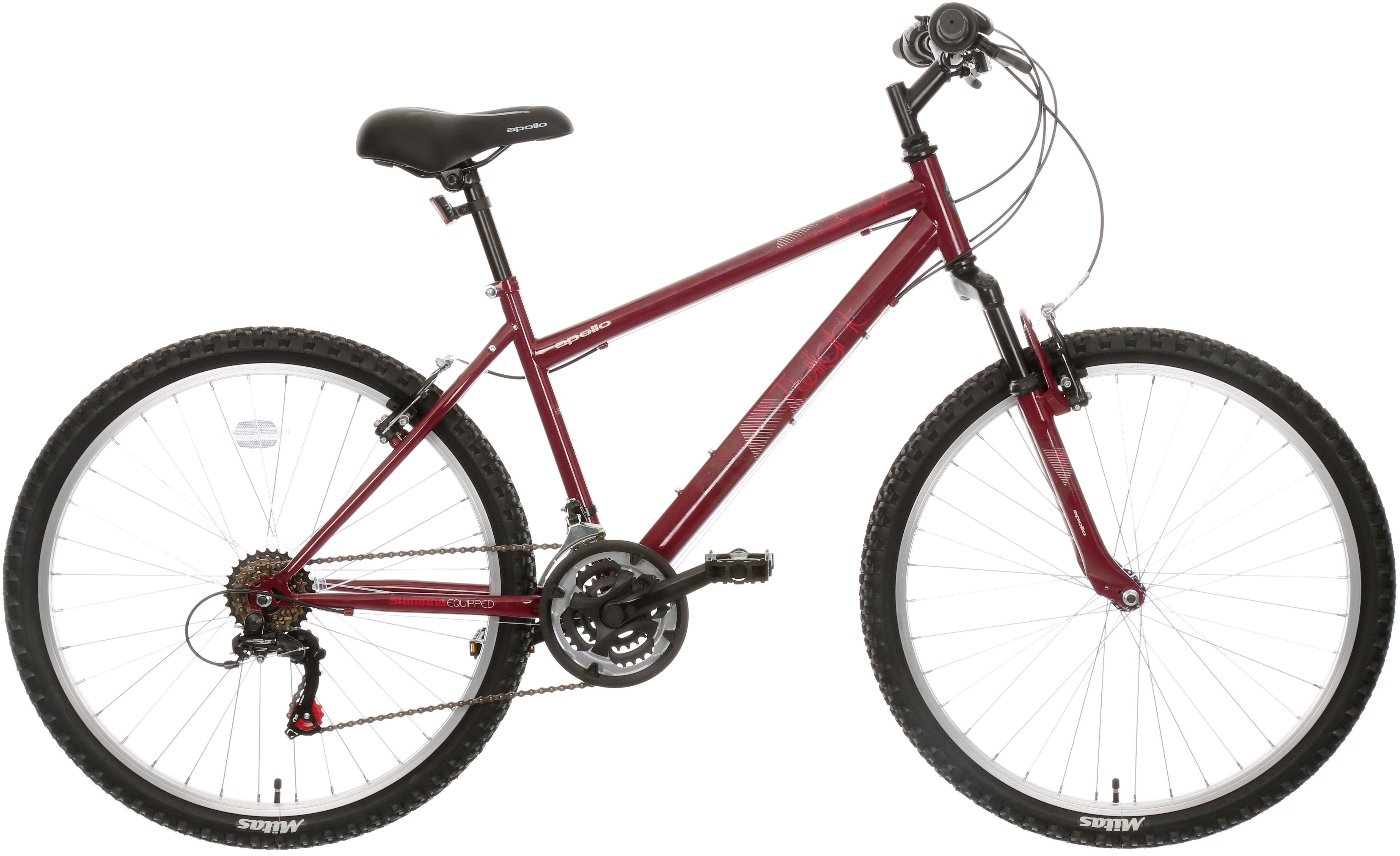 Apollo Twilight Womens Mountain Bike - Red - 21 Speed - S
