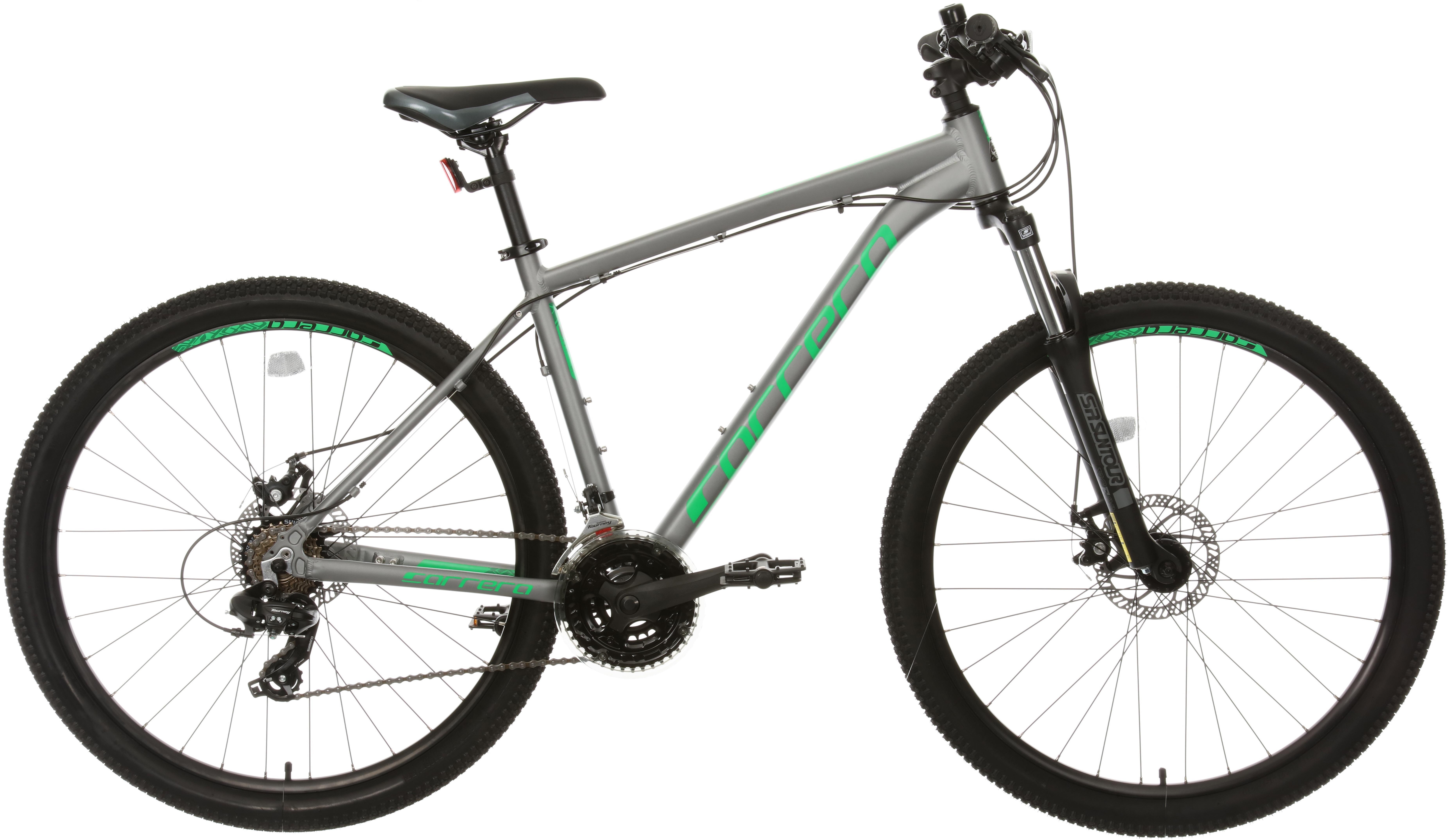 Carrera Hustle 1 Mountain Bike - Grey/Green