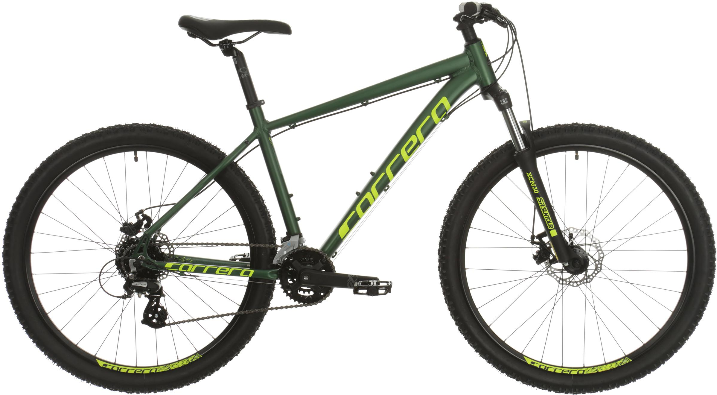 Carrera Vengeance Mens Mountain Bike (Without Puncture Protect) - Green