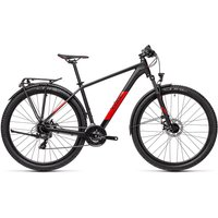 "Cube Aim 27.5 Allroad Hardtail Bike 2021 - Black - Red - 36cm (14"")"
