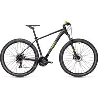 "Cube Aim 27.5 Hardtail Bike 2021 - Black - Green - 36cm (14"")"