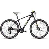 "Cube Aim 27.5 Hardtail Bike 2021 - Black - Green - 40cm (16"")"