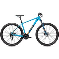 """Cube Aim 27.5 Hardtail Bike 2021 - Blue - Orange - 36cm (14"""")"""