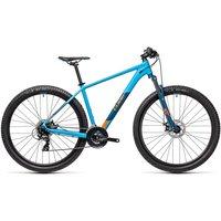 """Cube Aim 27.5 Hardtail Bike 2021 - Blue - Orange - 40cm (16"""")"""