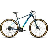 "Cube Aim Race 29 Hardtail Bike 2021 - Blueberry - Lime - 43.5cm (17"")"