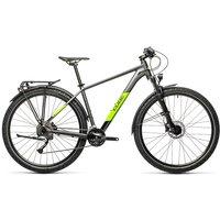 "Cube Aim SL 27.5 Allroad Hardtail Bike 2021 - Grey - Green - 36cm (14"")"