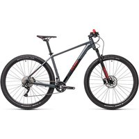 """Cube Attention 29 Hardtail Bike 2021 - Grey - Red - 43.5cm (17"""")"""